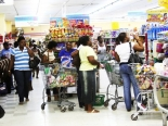 Jamaicans in supermarket